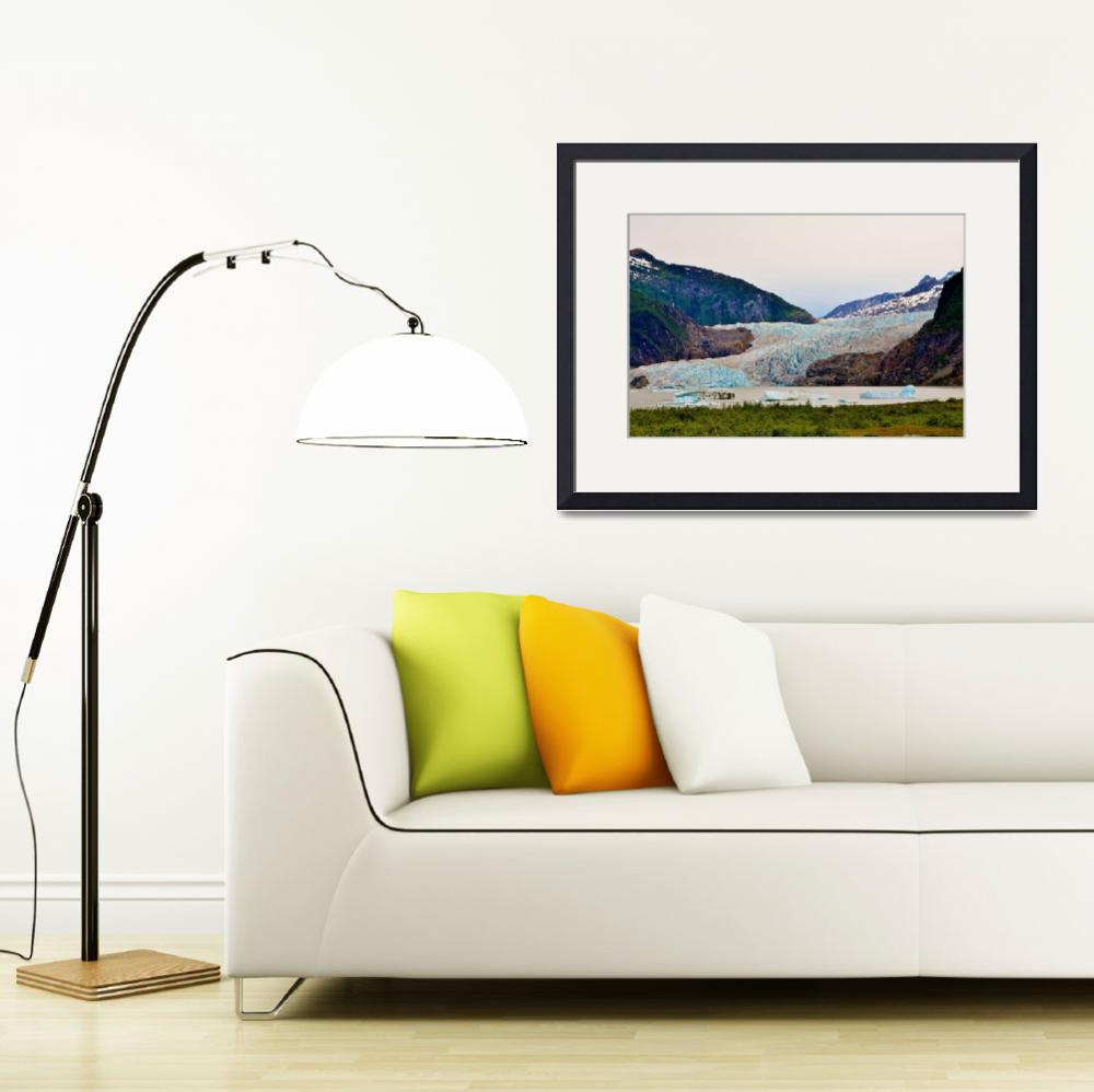 """""""MENDENHALL GLACIER AND ICEBERGS&quot  (2014) by RE16"""