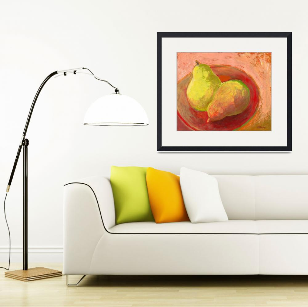 """Two Pears in Repose&quot  (2009) by JENLO"