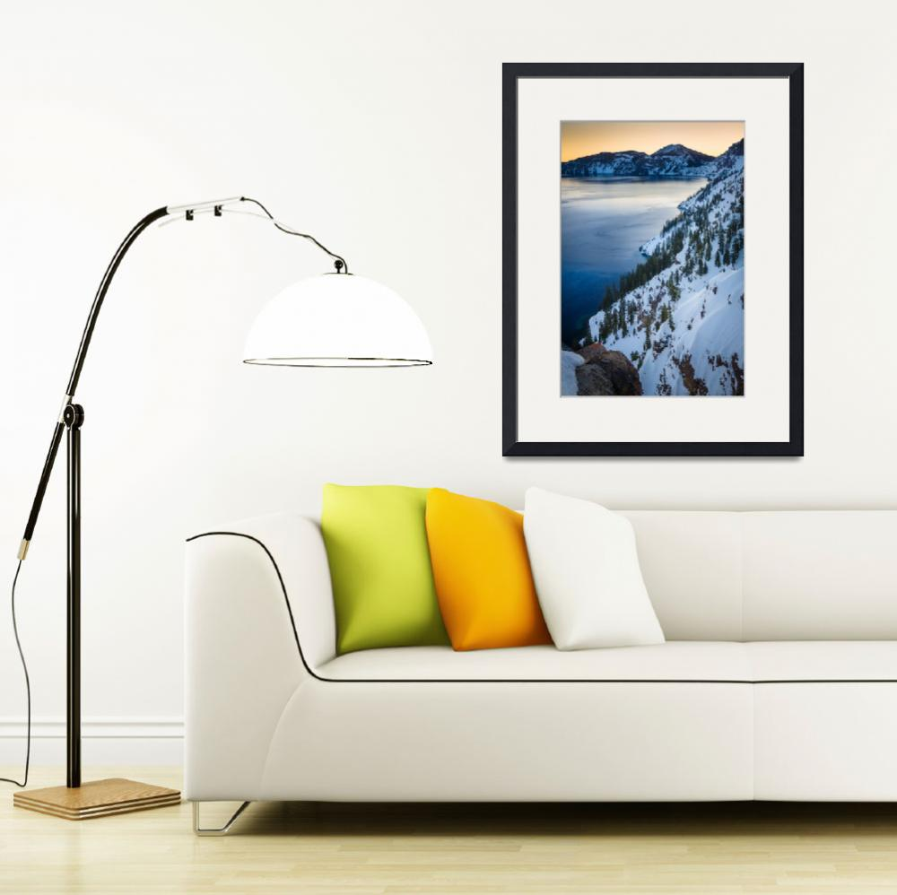 """""""Winter at Crater Lake&quot  (2013) by Inge-Johnsson"""