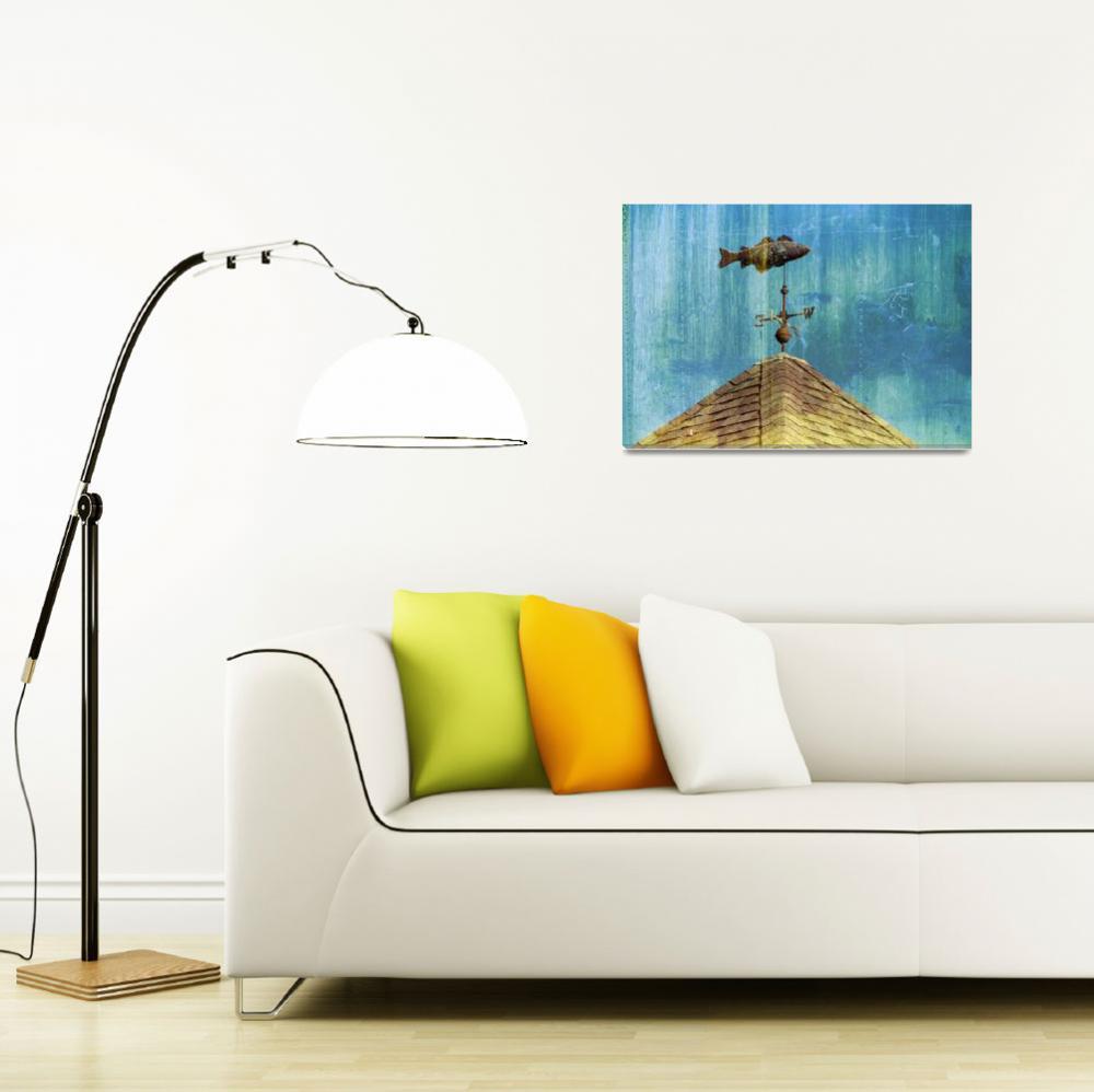 """Chatham Fish Pier Weathervane, Cape Cod&quot  (2008) by ChrisSeufert"