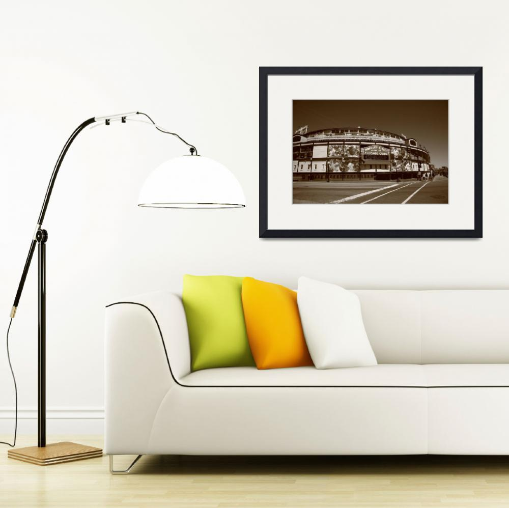 """""""Wrigley Field - Chicago Cubs&quot  (2010) by Ffooter"""