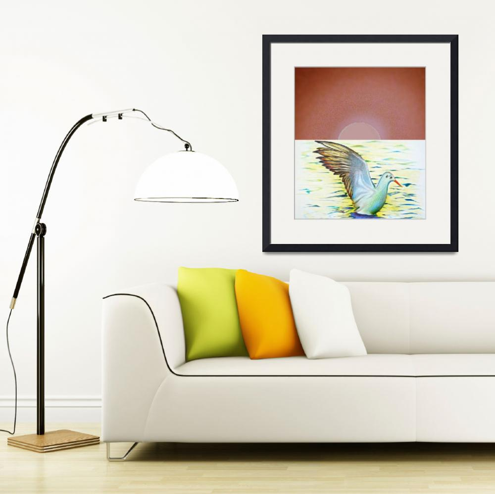 """""""Gull Horizon&quot  (2013) by LOUISEDIONNE"""
