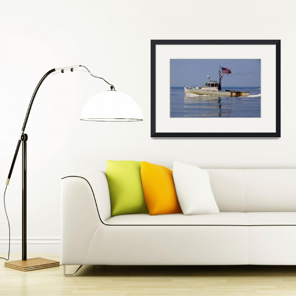 """""""Lobster Boat&quot  (2014) by NjordPhotography"""
