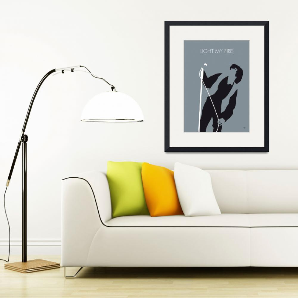 """""""No007 MY The Doors Minimal Music poster&quot  by Chungkong"""