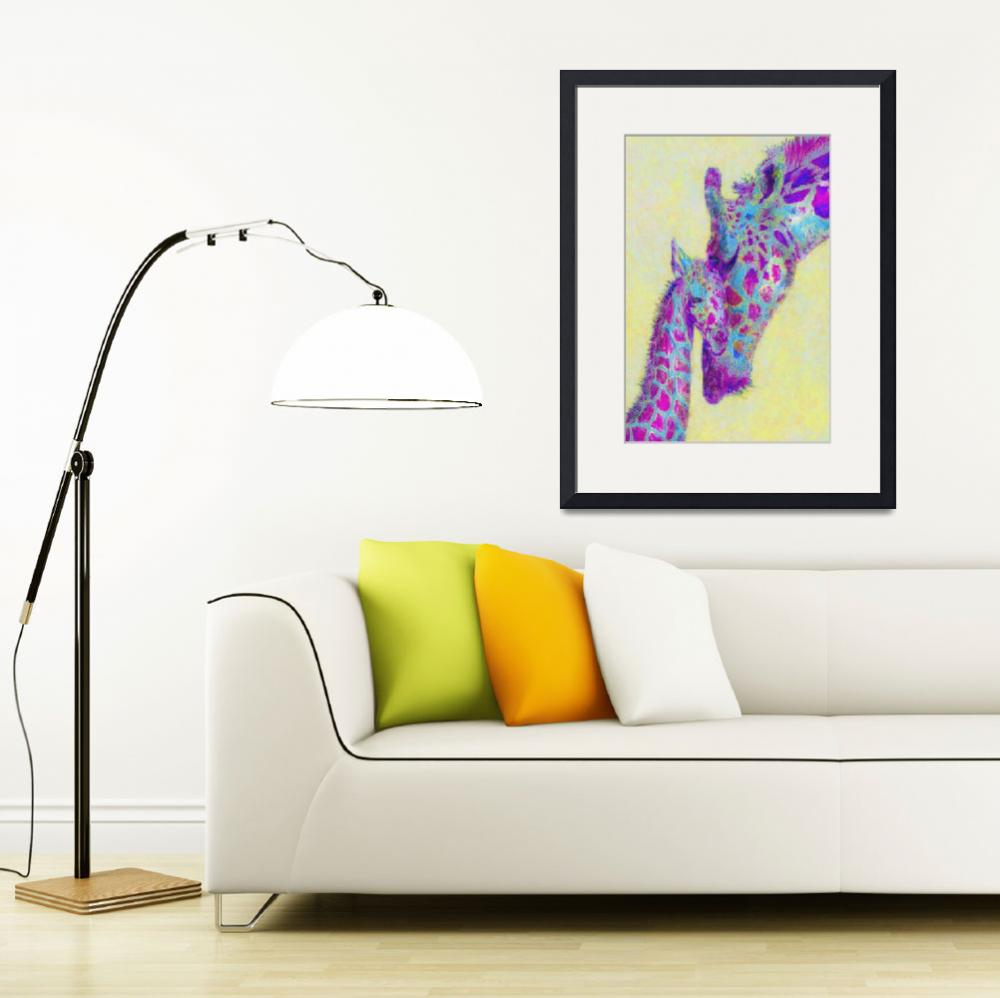 """""""violet and yellow giraffes&quot  (2013) by pietrastone"""