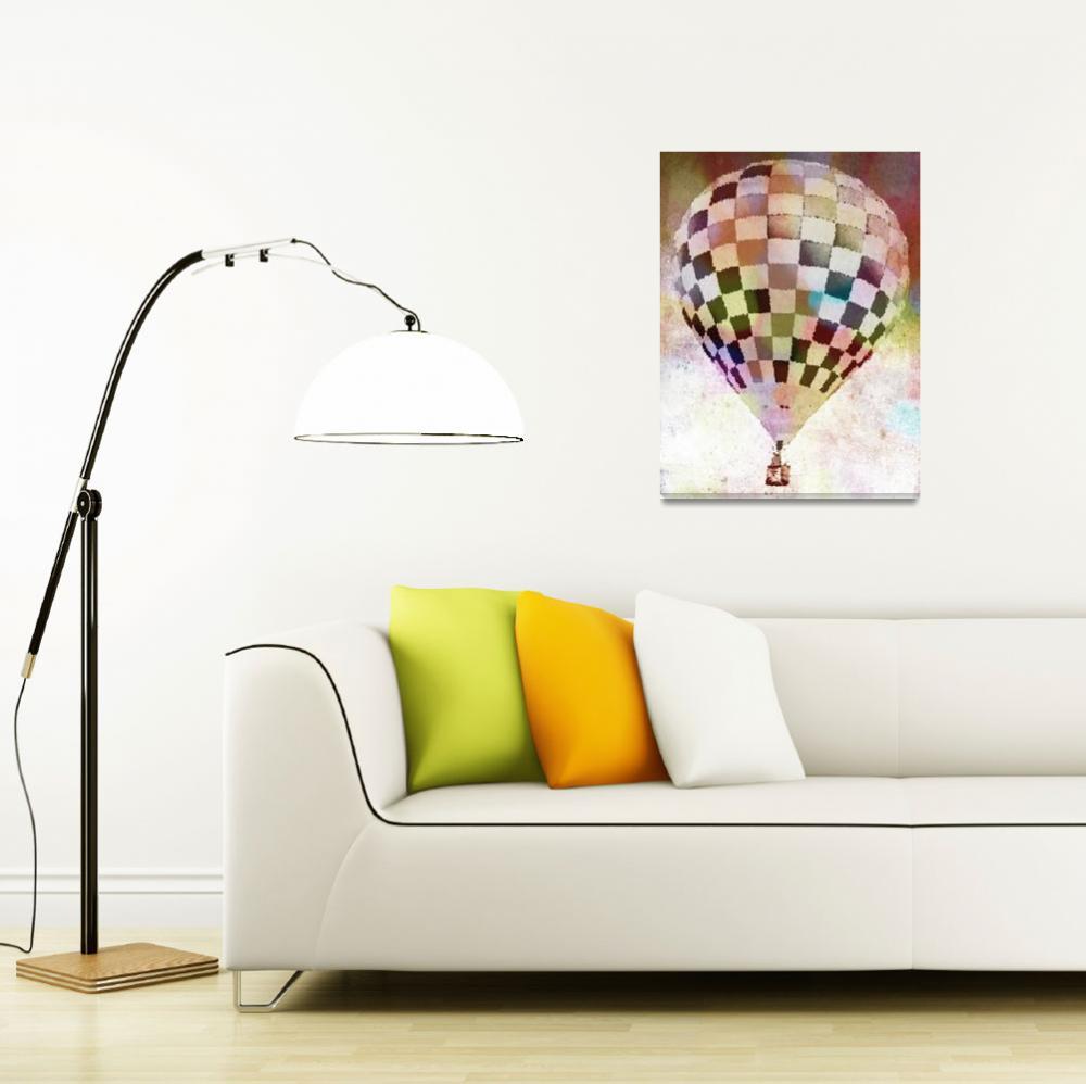 """Hot Air Balloon  Checkered 6""  (2012) by psovart"