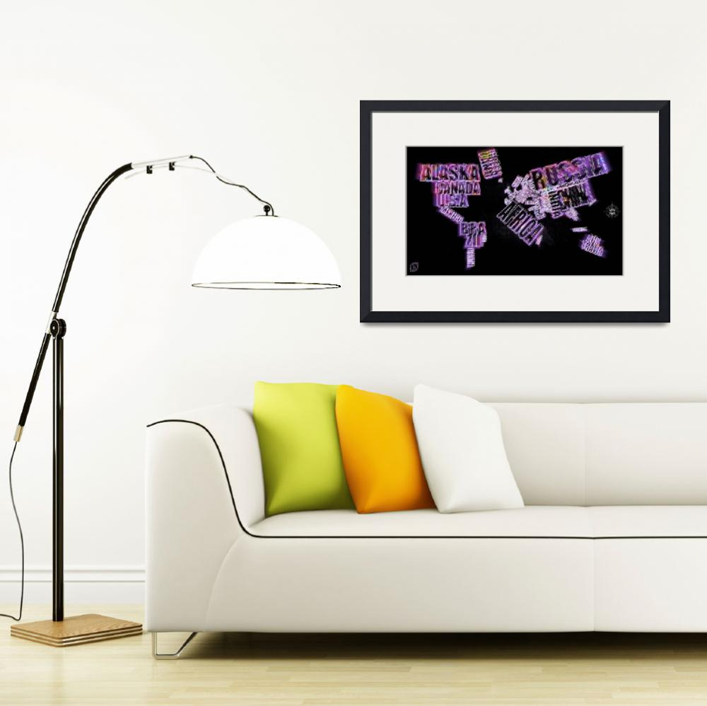 """""""Neon Word Maps&quot  (2012) by D77TheDigArtisT"""