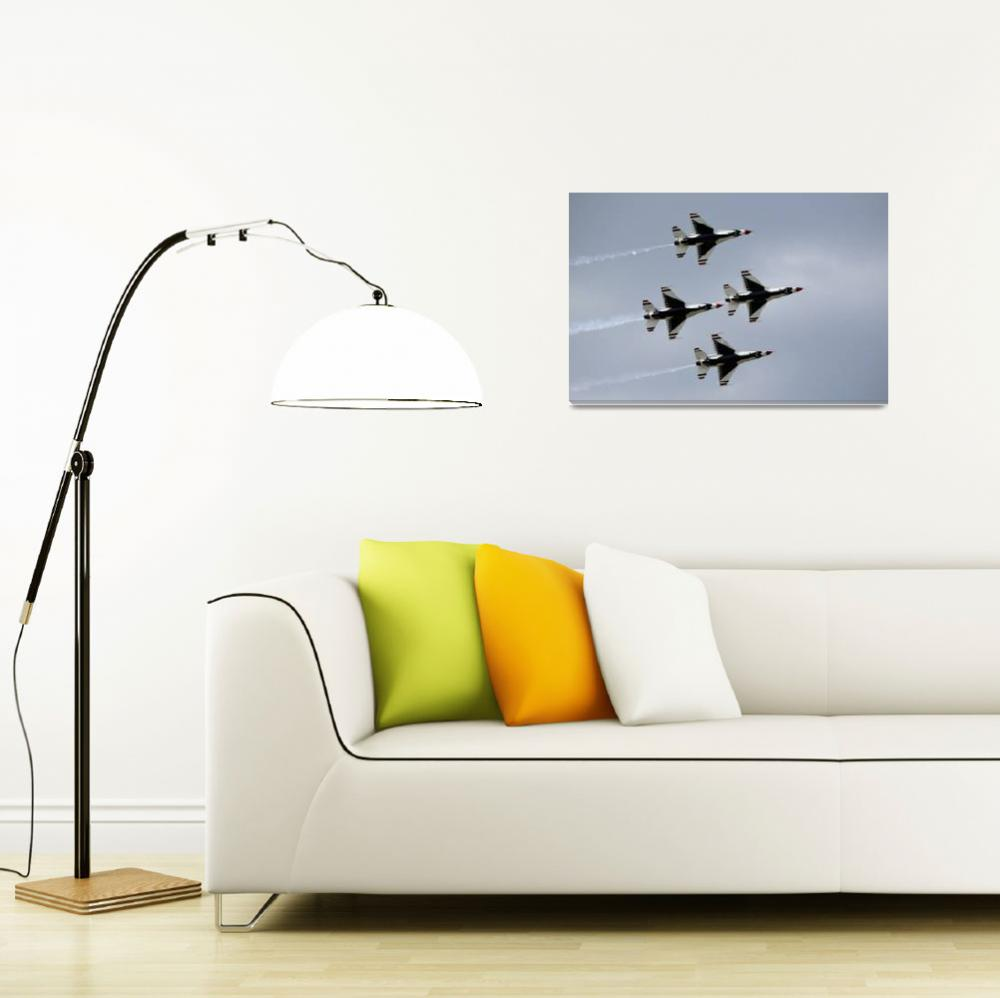 """""""The U.S. Air Force Thunderbirds fly in formation&quot  by stocktrekimages"""