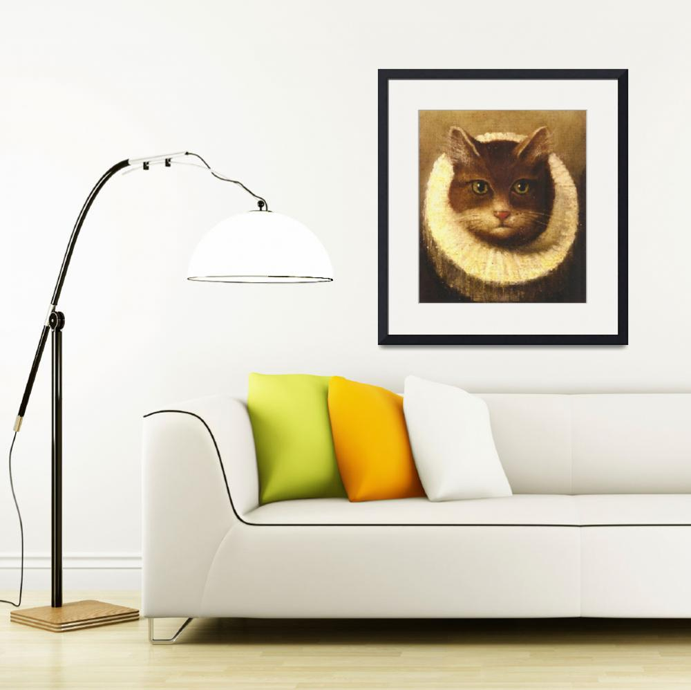 """""""Cat In A Ruff Cute Victorian Art Vintage Painting&quot  by masterpiecesofart"""