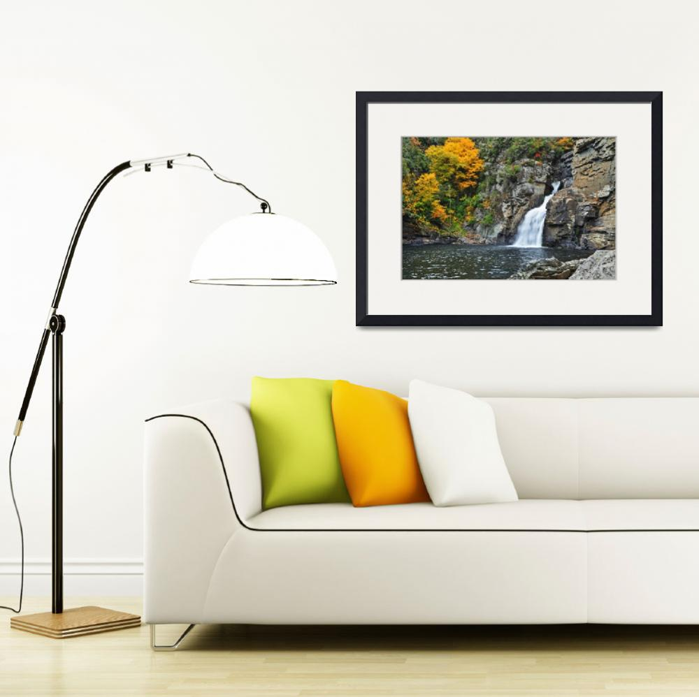 """""""Linville Falls from Plunge Basin Trail, Linville R&quot  by toddbush"""