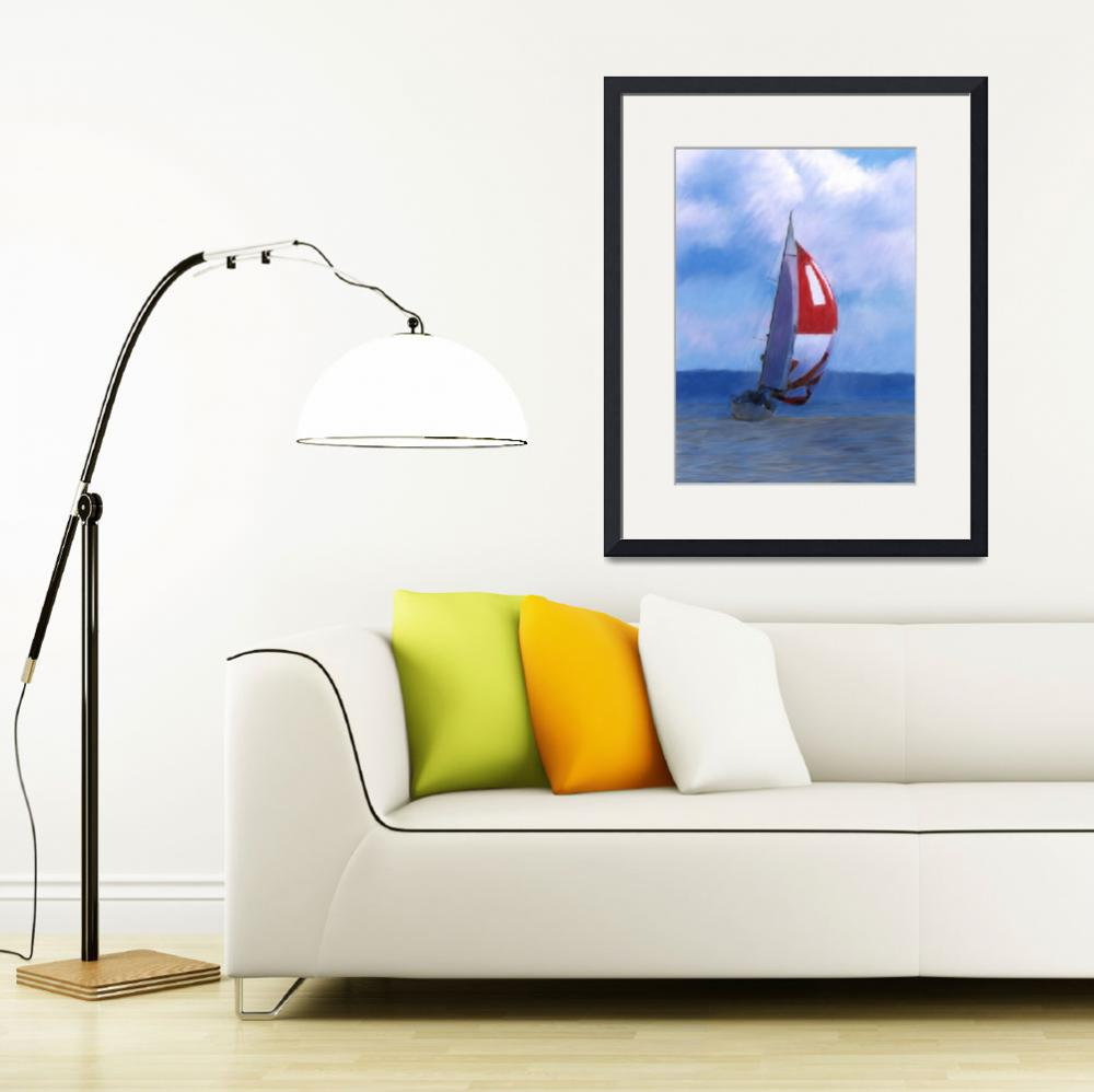 """""""Spinnaker on Puget Sound&quot  (2008) by NWExposures"""