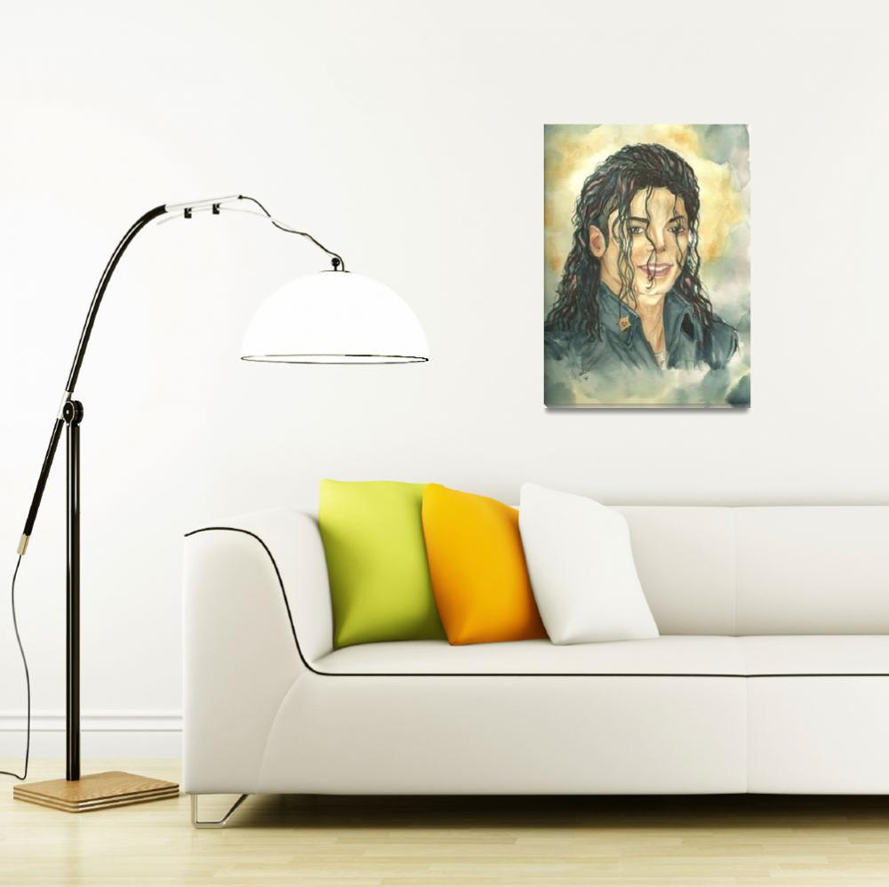 """Michael Jackson limited edition Giclee Art Print f&quot  (2010) by NicoleWang"