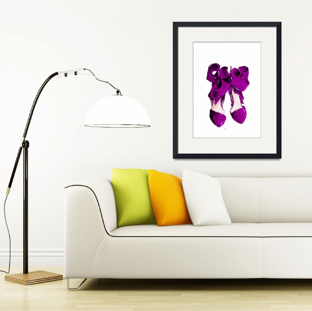 """""""The Purple Shoes&quot  by TalulaChristian"""