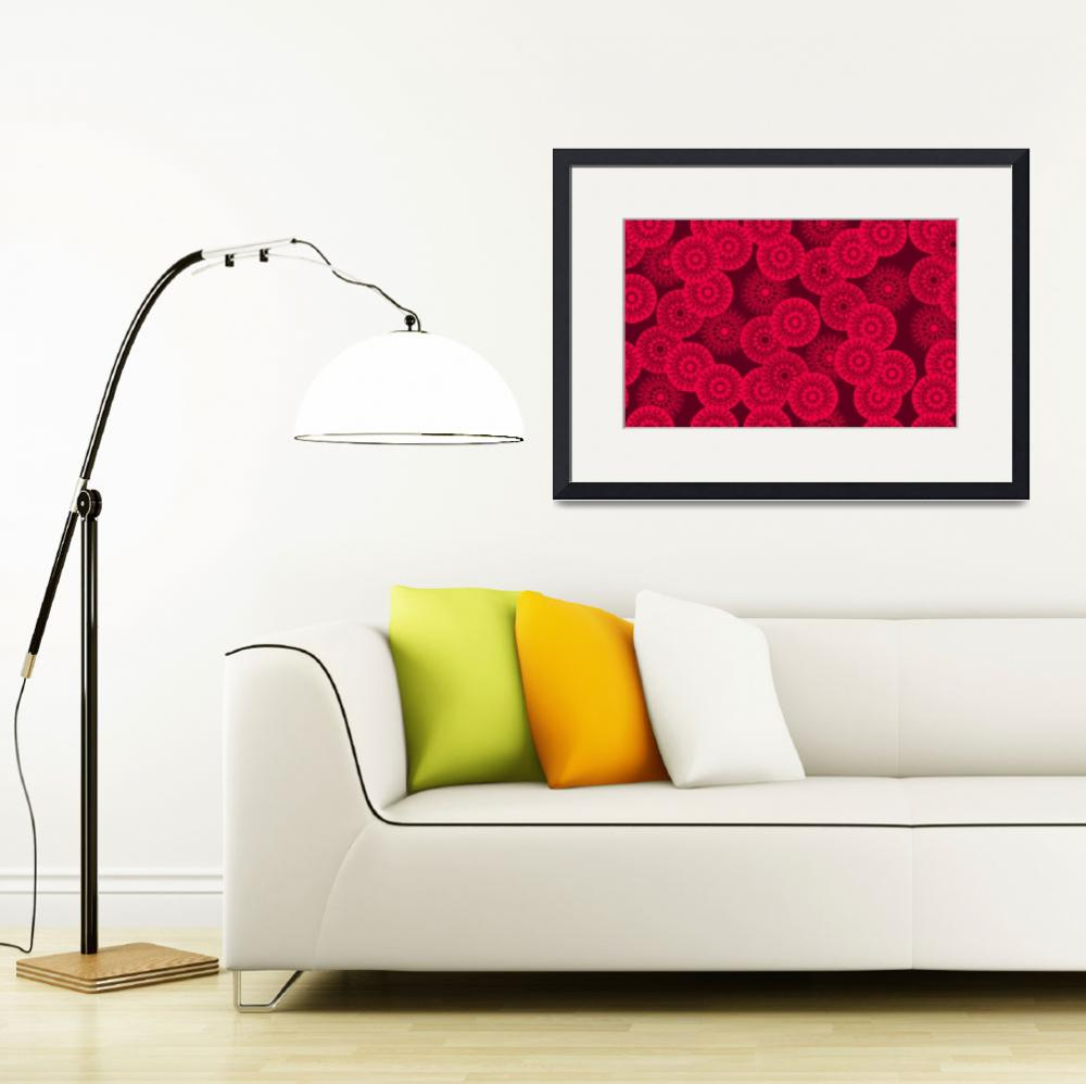 """""""Red Medallion Blooms""""  (2012) by MaryDolan"""