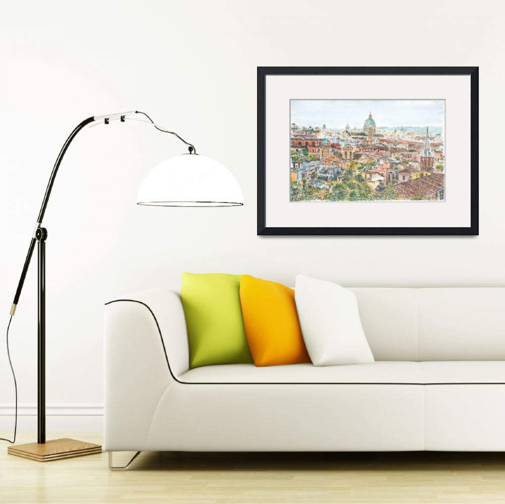 """""""Rome overview from the Borghese Gardens&quot  by fineartmasters"""