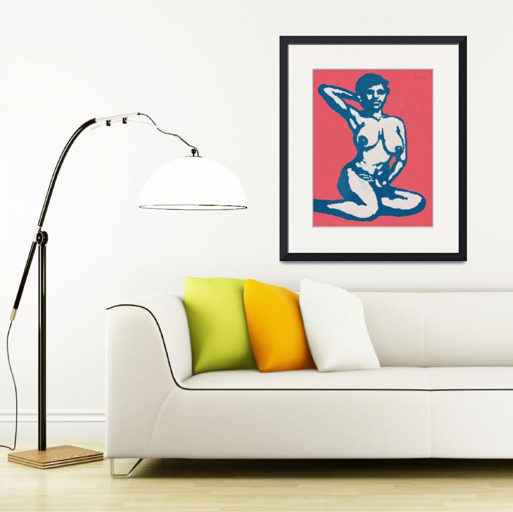 """Etching style nude pop art  poster&quot  (2014) by visualharbour"