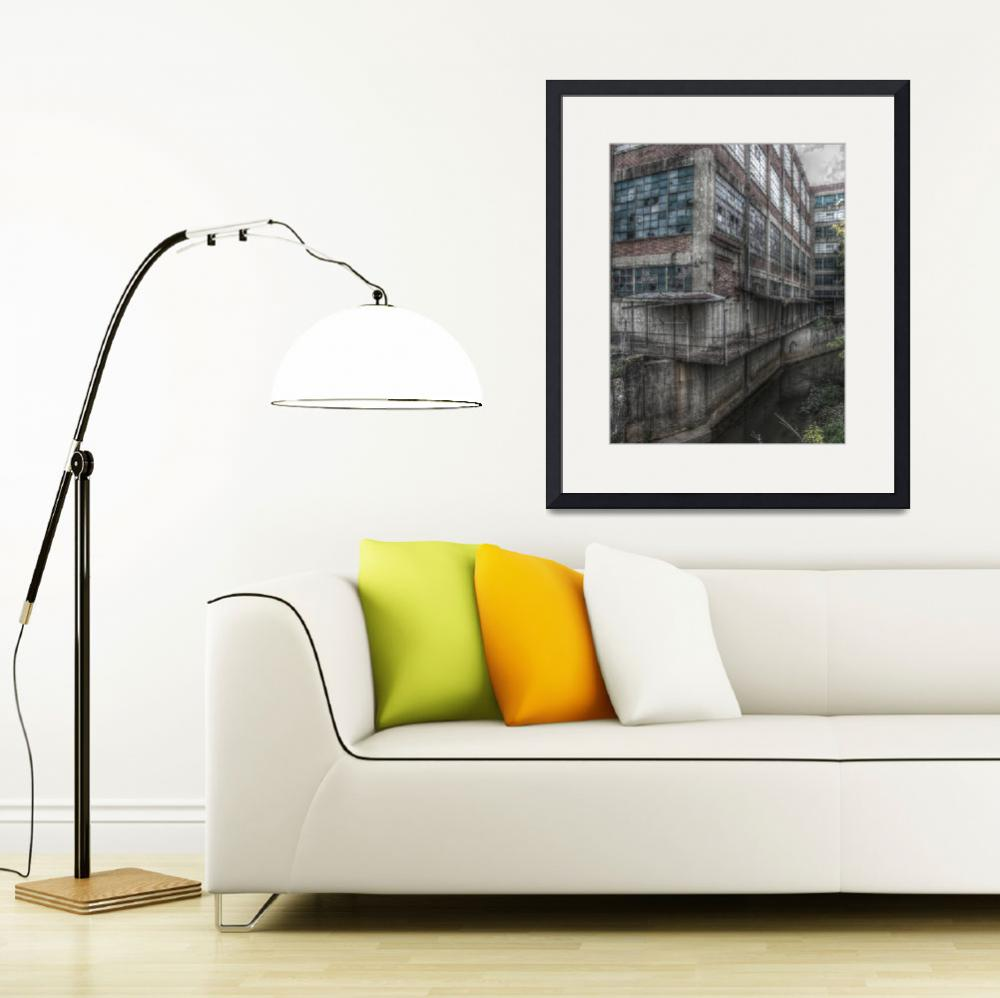 """""""Standard Knitting Mill, Third Creek, 11x14&quot  (2011) by wallsofthecityphotography"""