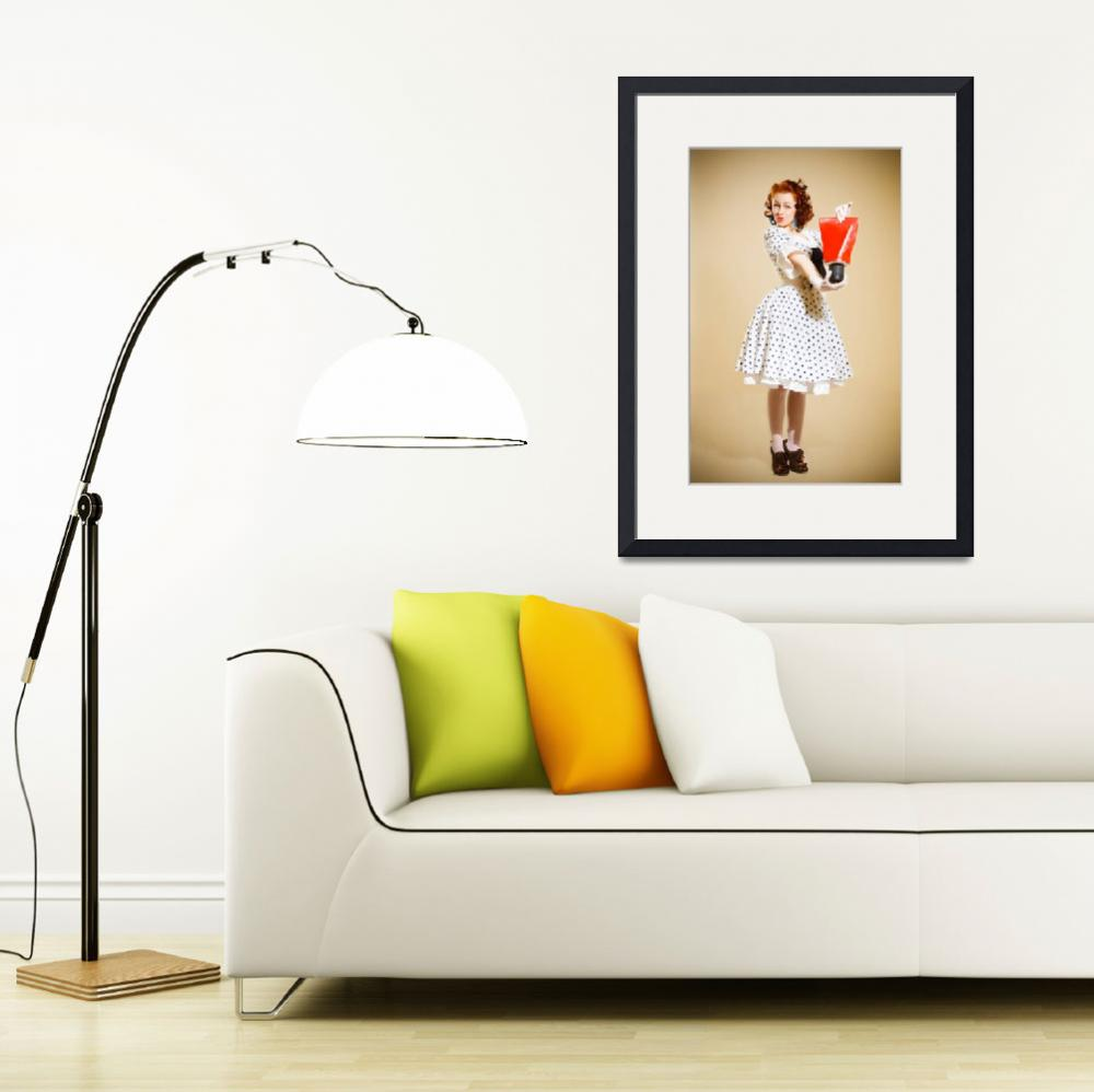 """""""Pin-up girl. American style&quot  (2014) by andriy_petrenko"""