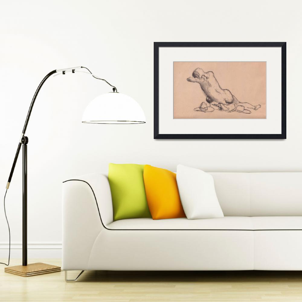 """""""Reclining Girl_( Chalk on Paper-Composite )&quot  by BatRat"""