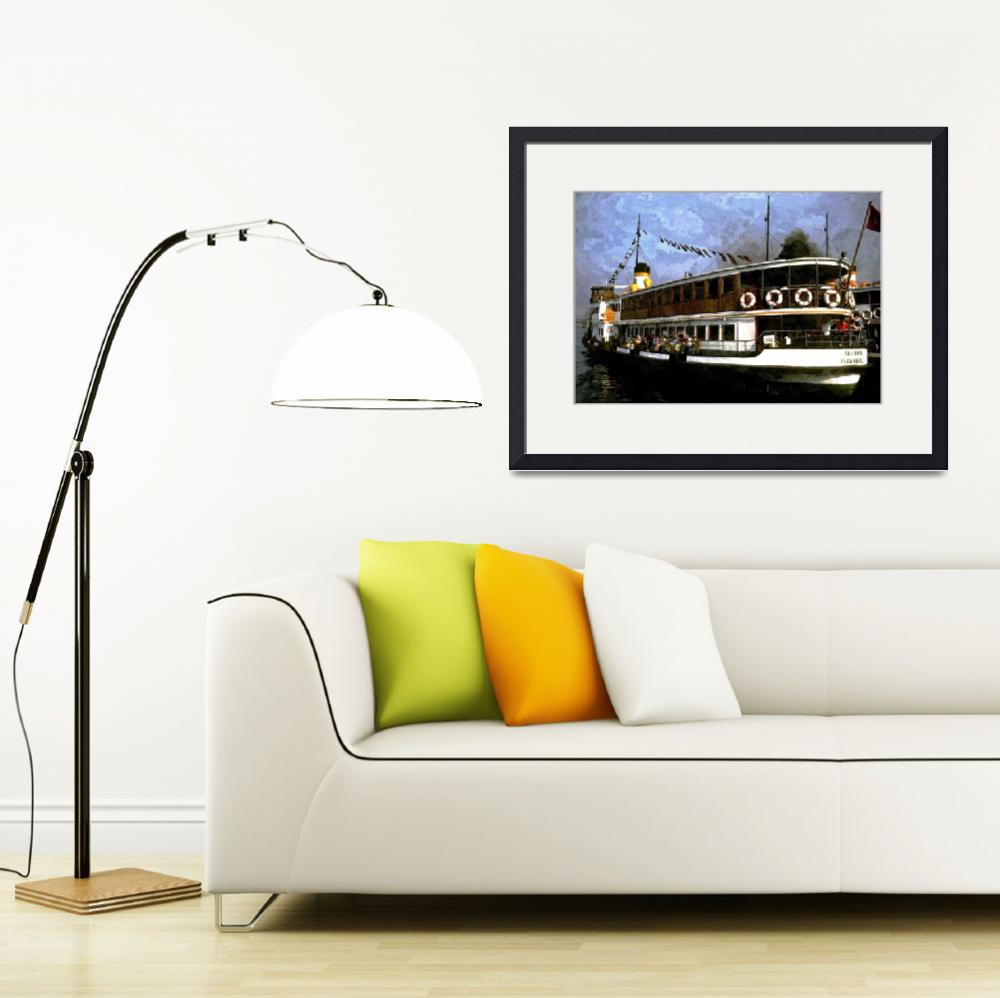 """""""Istanbul Ferry&quot  (2011) by Tronagallery"""