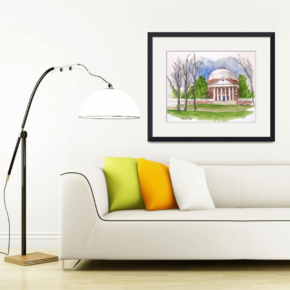 """The Rotunda At UVA poster&quot  by Holewinski"