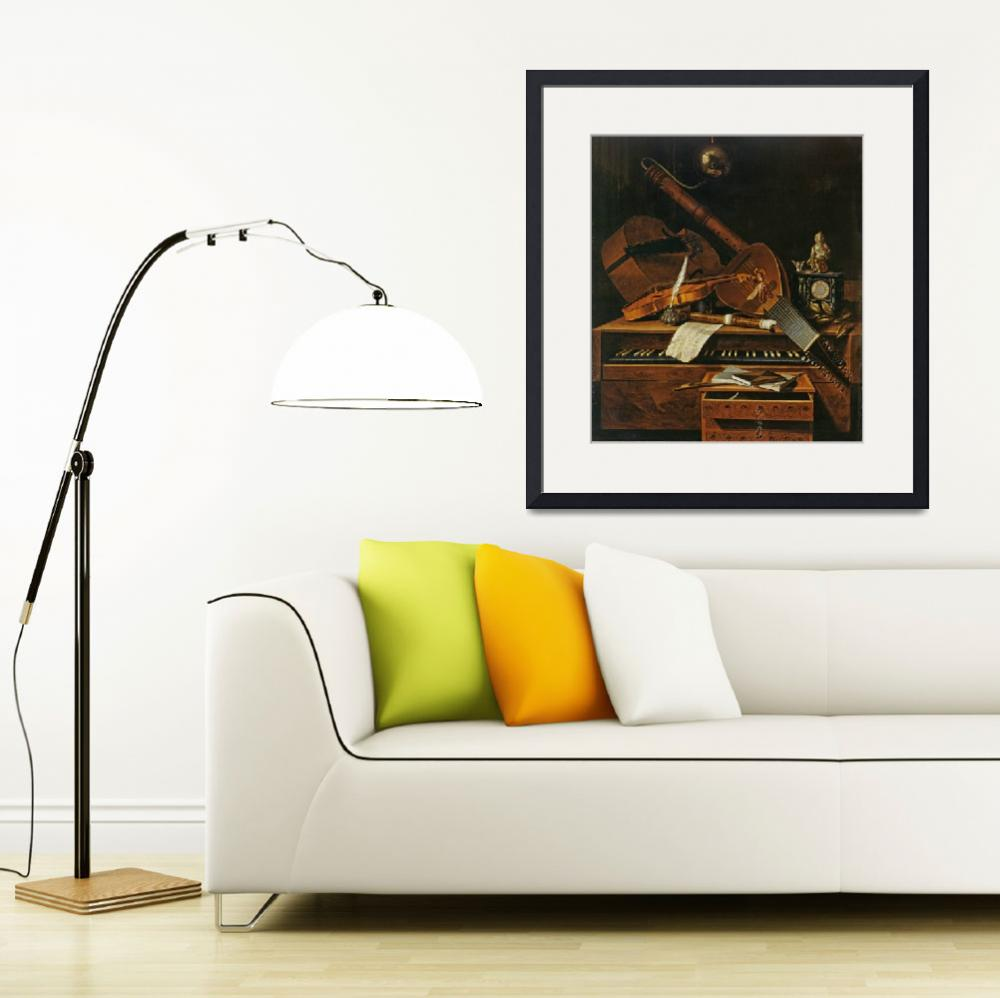 """""""Still life with musical instruments&quot  by fineartmasters"""