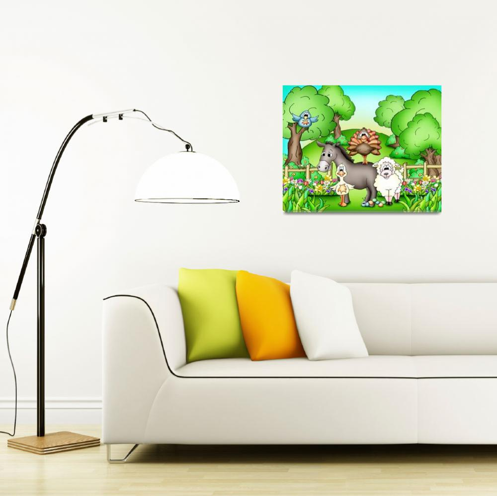 """""""Farm Animals with Donkey&quot  (2010) by just4mebooks"""