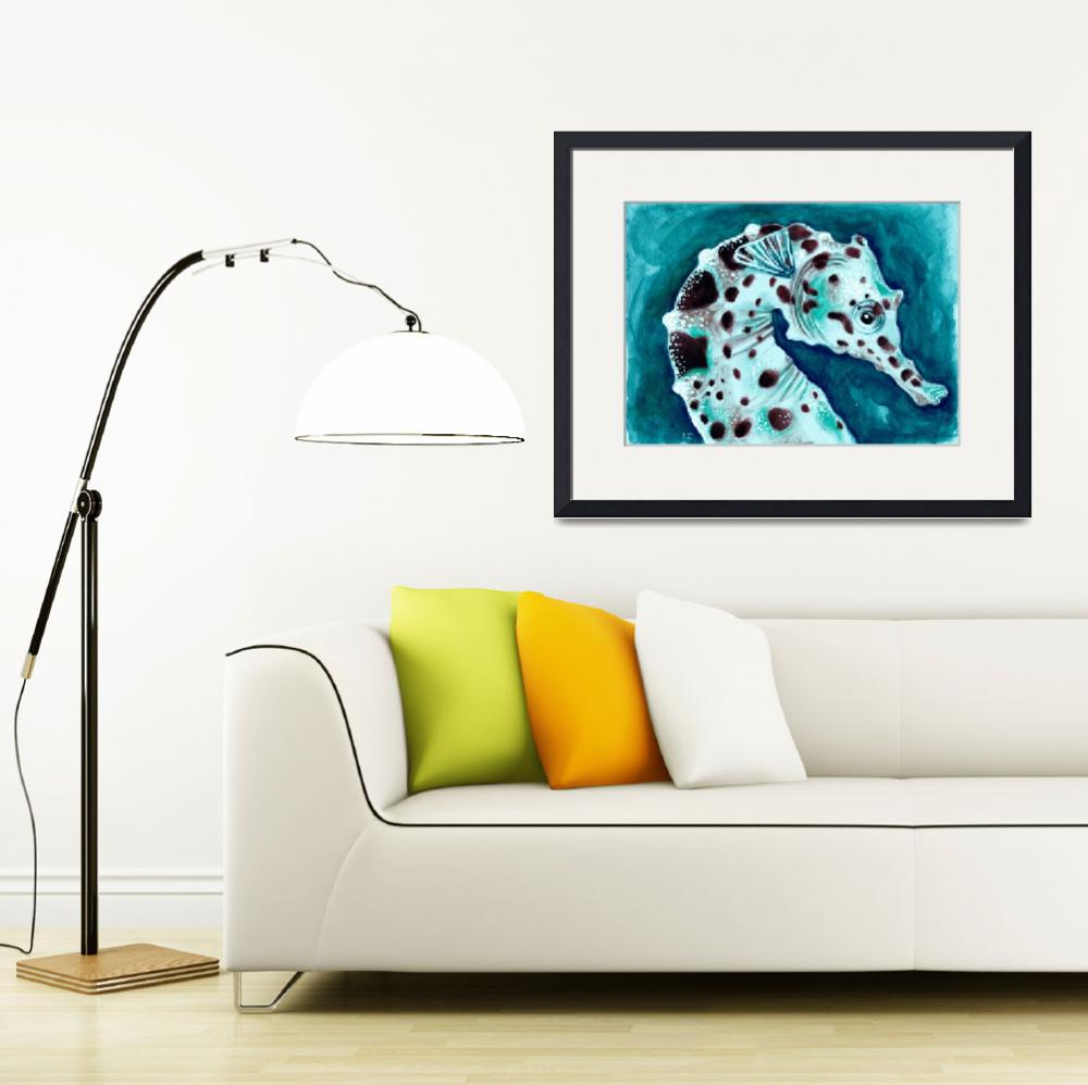 """""""turquoise sea horse&quot  (2014) by artdeep"""