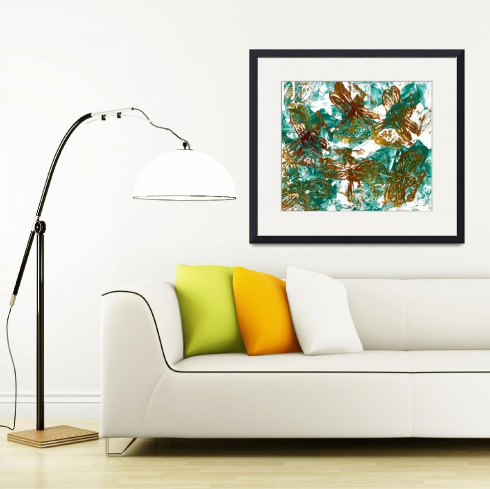 """""""Dragonflies&quot  (2011) by paulyworksfineart"""