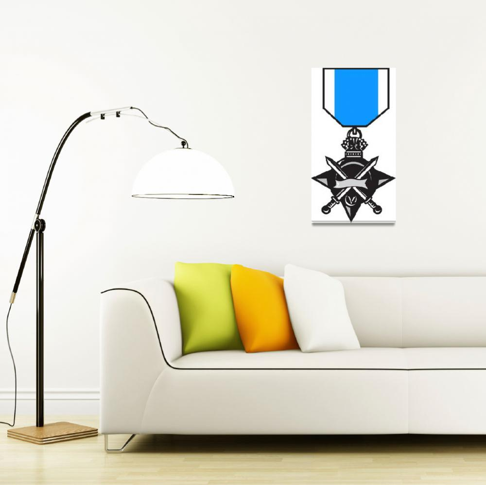 """military medal of bravery crossed swords&quot  (2013) by patrimonio"