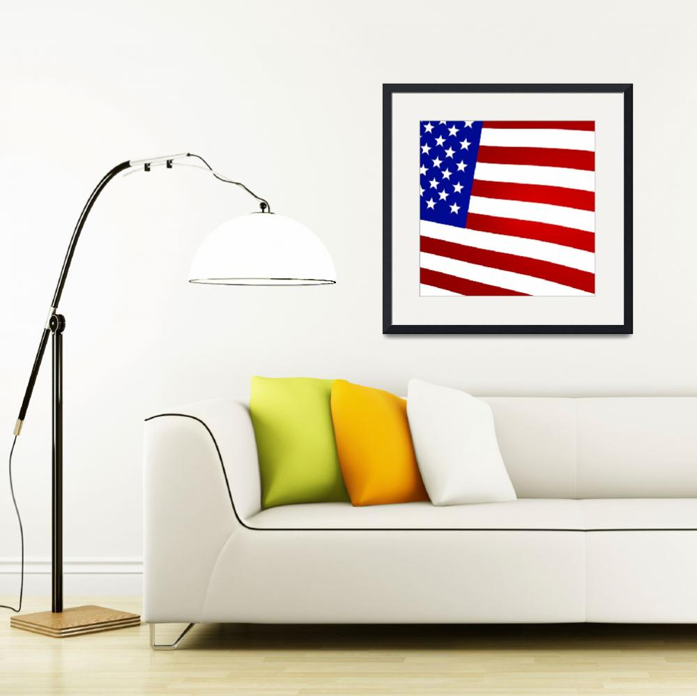 """""""3D Rendered United States Flag&quot  (2013) by lutjo1953"""