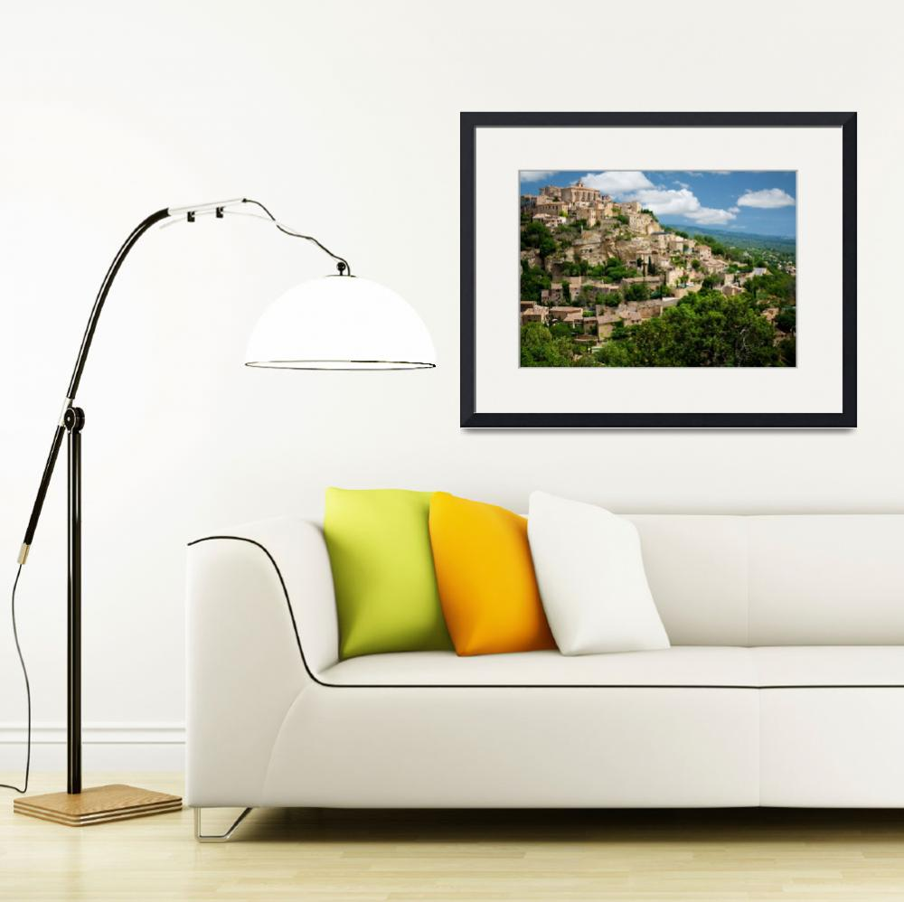 """""""Gordes Hill Town (Provence)&quot  (2007) by Inge-Johnsson"""