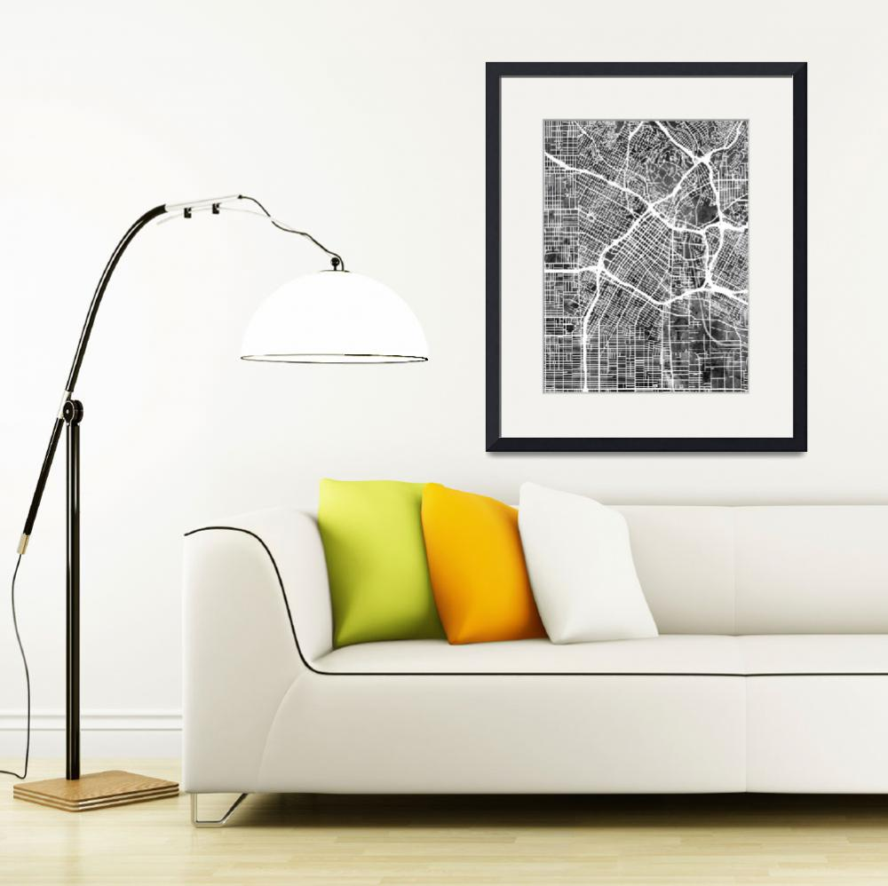 """Los Angeles City Street Map&quot  (2016) by ModernArtPrints"