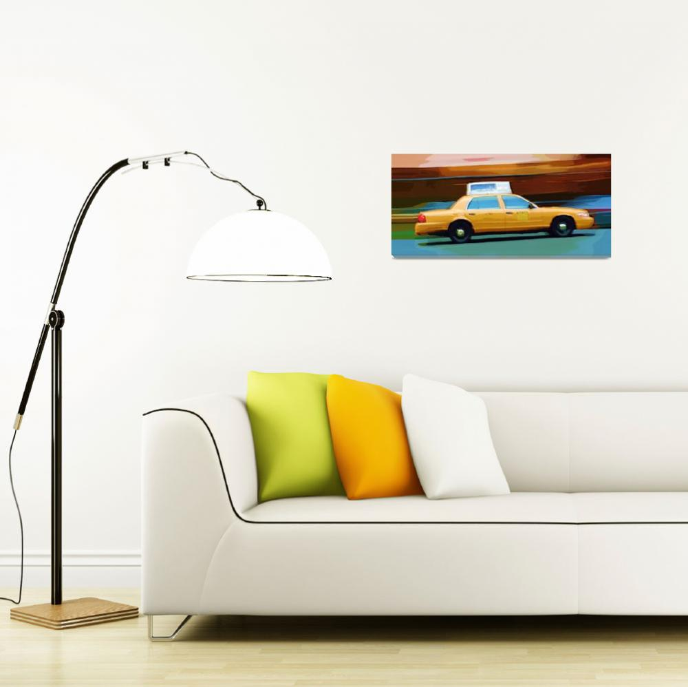 """""""New York Taxi&quot  (2009) by talgreen"""
