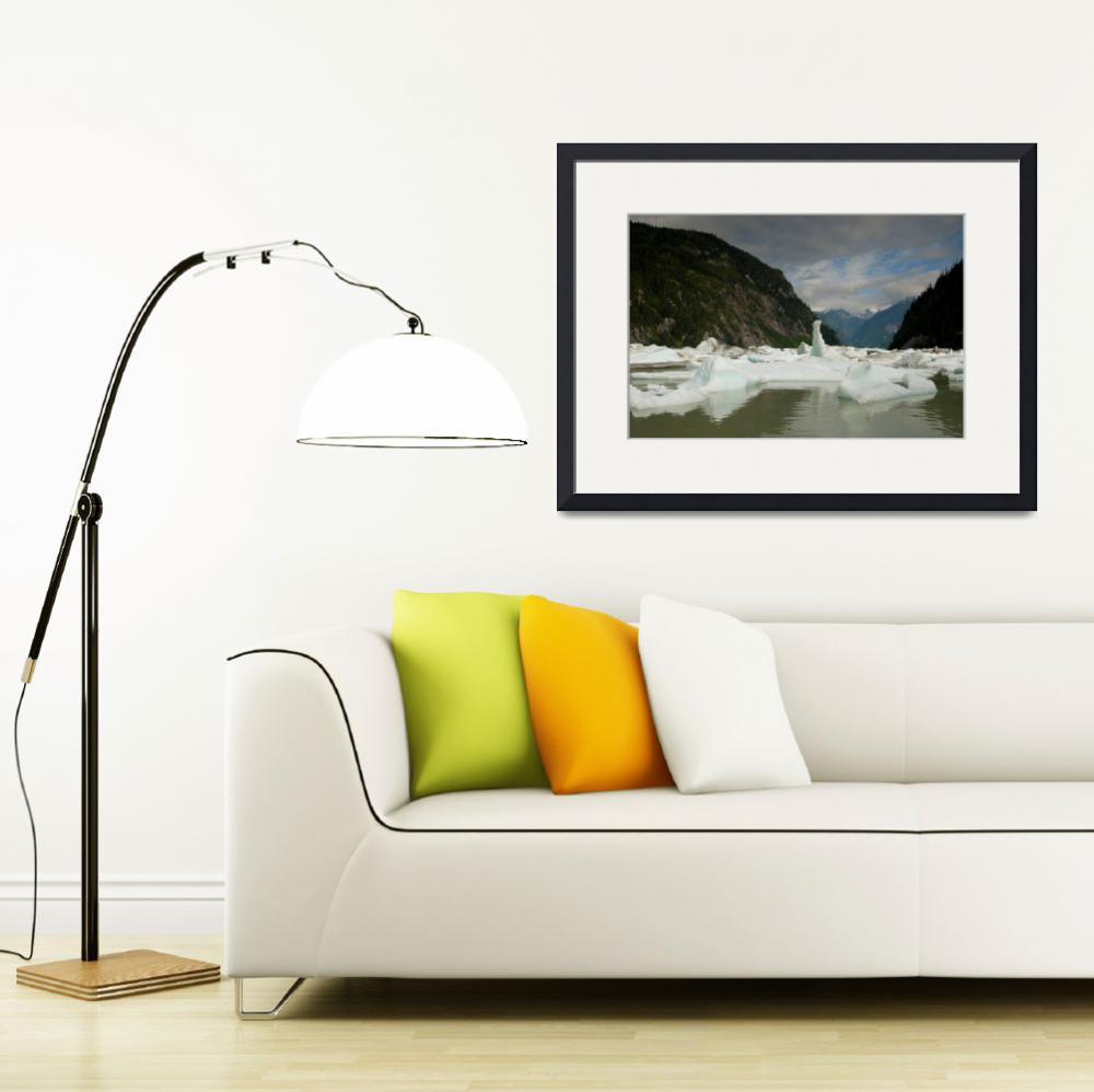 """""""Glacial Icebergs, Shakes Lake, Stikine River&quot  (2010) by SederquistPhotography"""