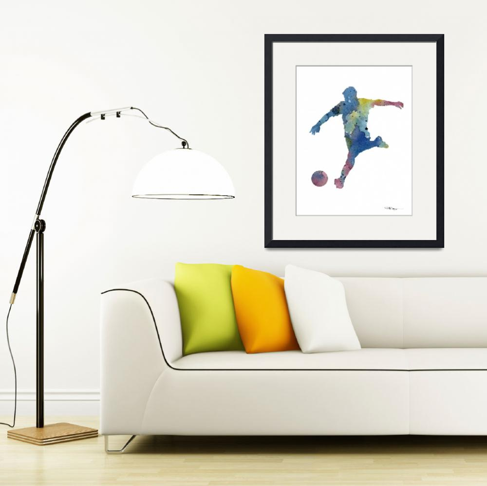 """""""Soccer Player&quot  (2016) by k9artgallery"""