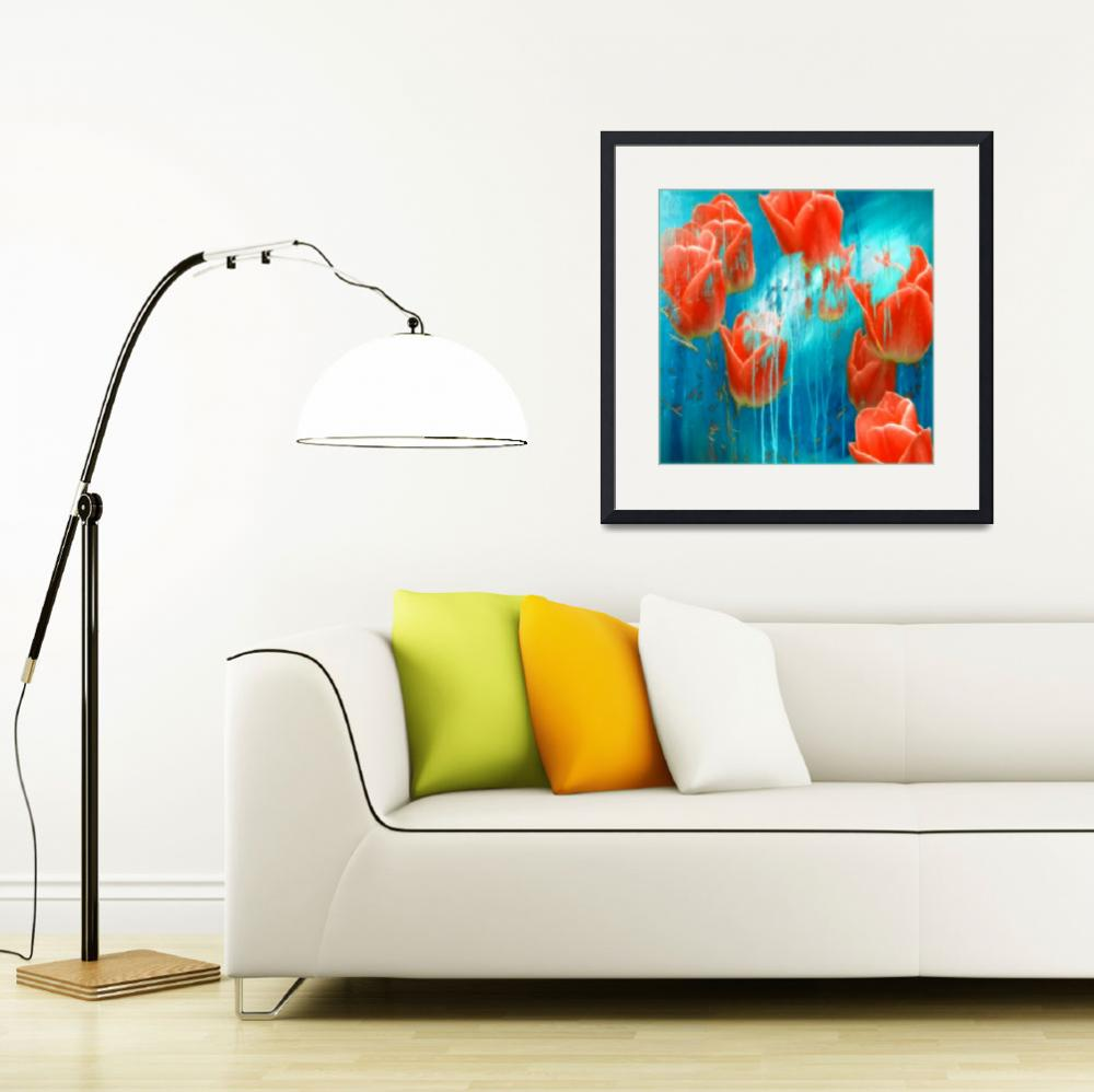 """""""Weeping Tulips&quot  (2012) by artforcancer"""