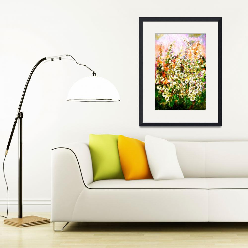 """""""Light In The Garden Modern Floral Art&quot  (2015) by GinetteCallaway"""