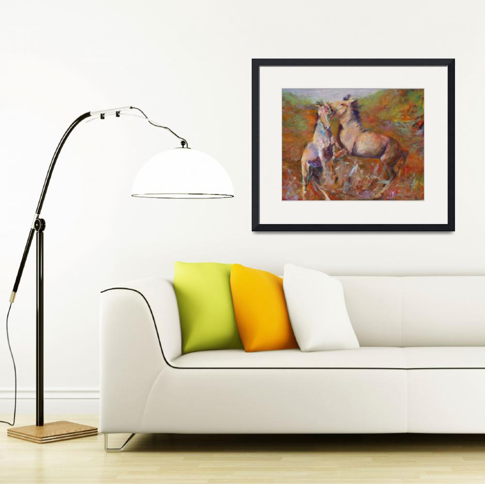 """Wild Horses at Play""  (2008) by deewright"