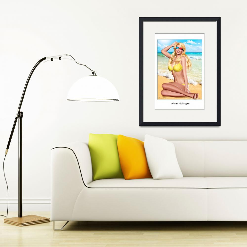 """""""3D Summer Pin-Up by Alicia Hollinger&quot  (2011) by AliciaHollinger"""