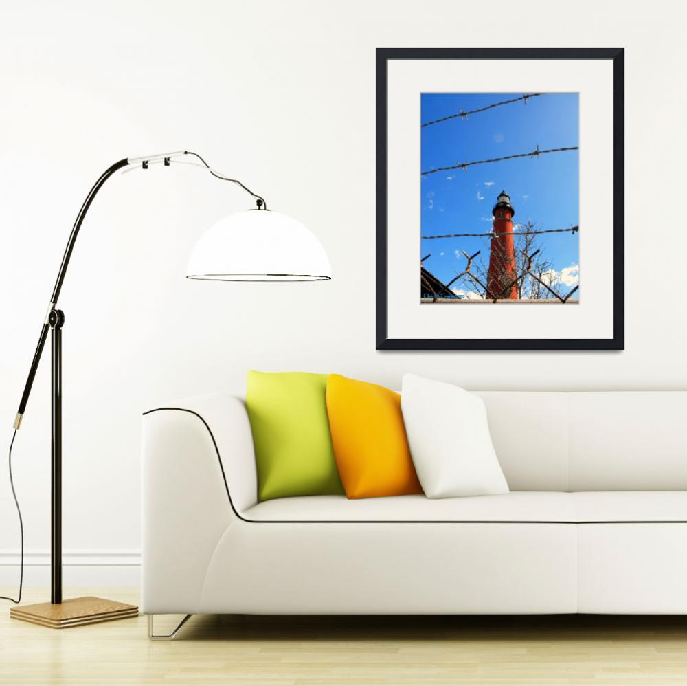 """""""Lighthouse Behind Barbed Wire""""  (2009) by ChrisCrowley"""