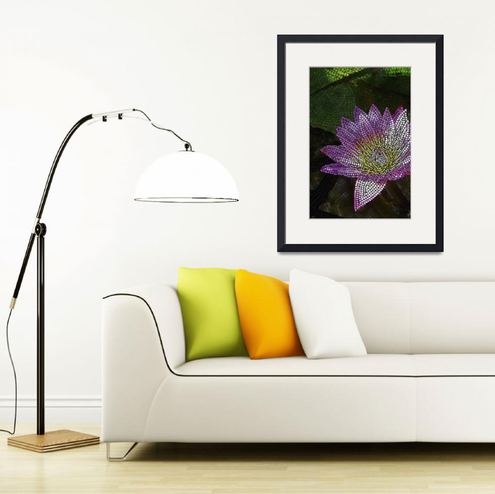 """""""mosaic - """"Water Lily"""" (vertical)&quot  by kinnally"""
