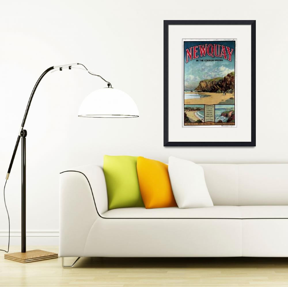 """""""Vintage Newquay in the Cornish Riviera Travel&quot  by PDGraphics"""