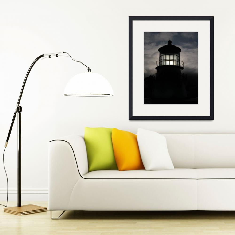"""""""Silhouette Lighthouse&quot  (2008) by AhrNeely"""
