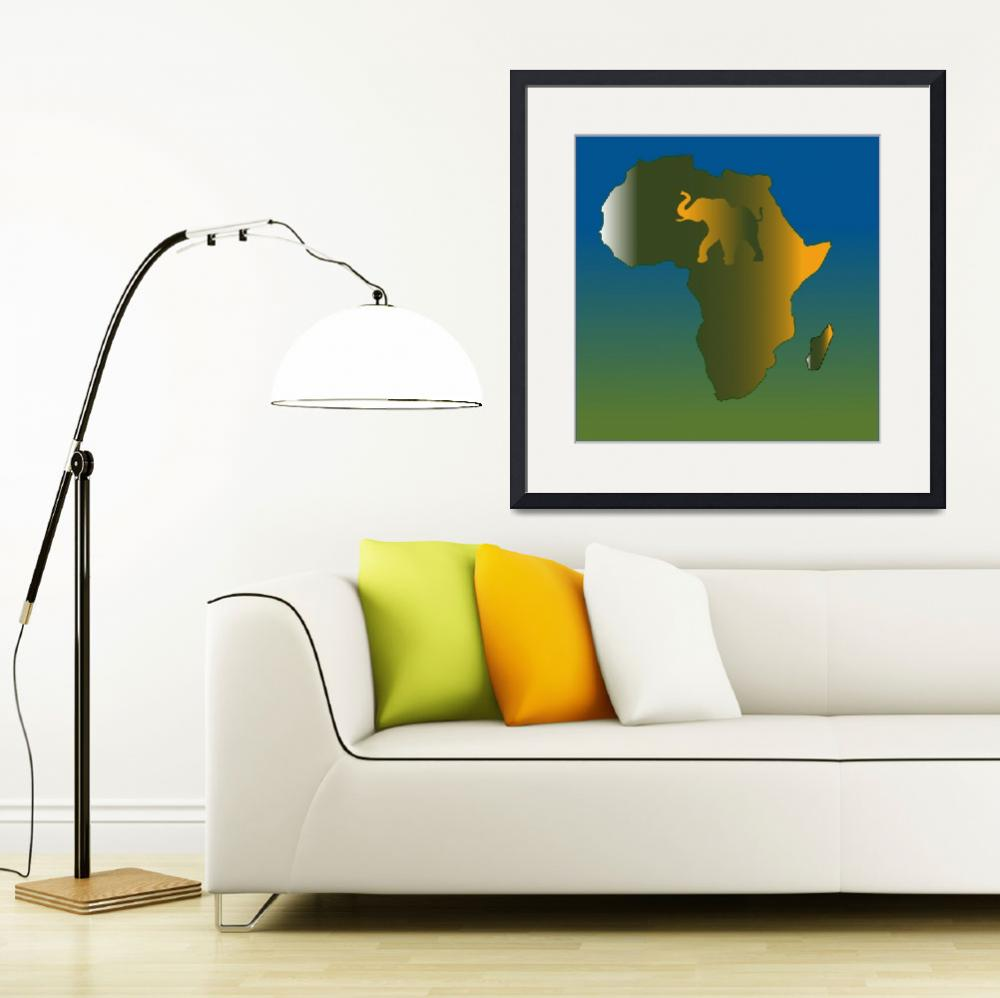 """Abstract Africa Wild&quot  (2007) by Chatterbox"