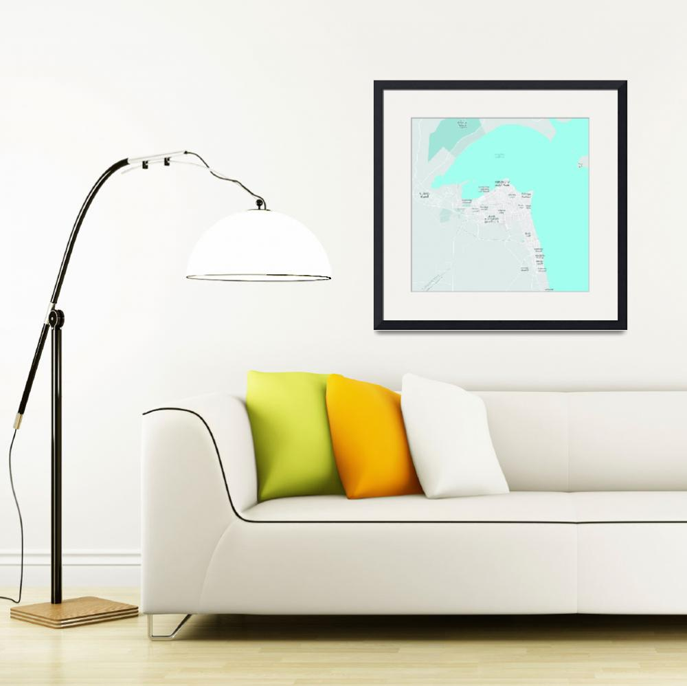 """Minimalist Modern Map of kuwait City, Kuwait 10""  by motionage"