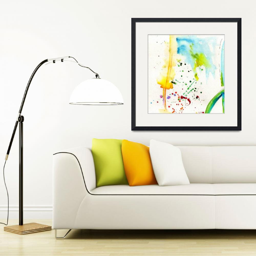 """""""Summer Splish Splash Abstract Watercolor&quot  (2014) by GinetteCallaway"""