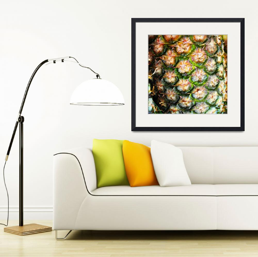 """Abstract Nature Tropical Pineapple A712078 Square&quot  (2017) by Ricardos"