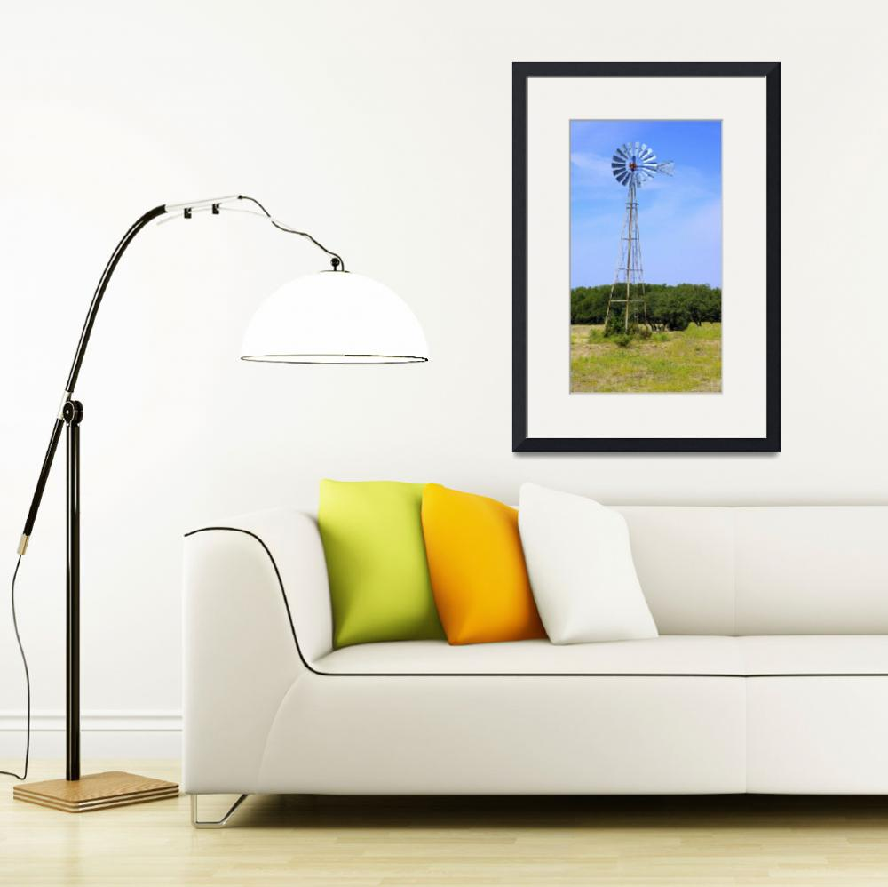 """West Texas Windmill A9718&quot  (2018) by MasArtStudio"