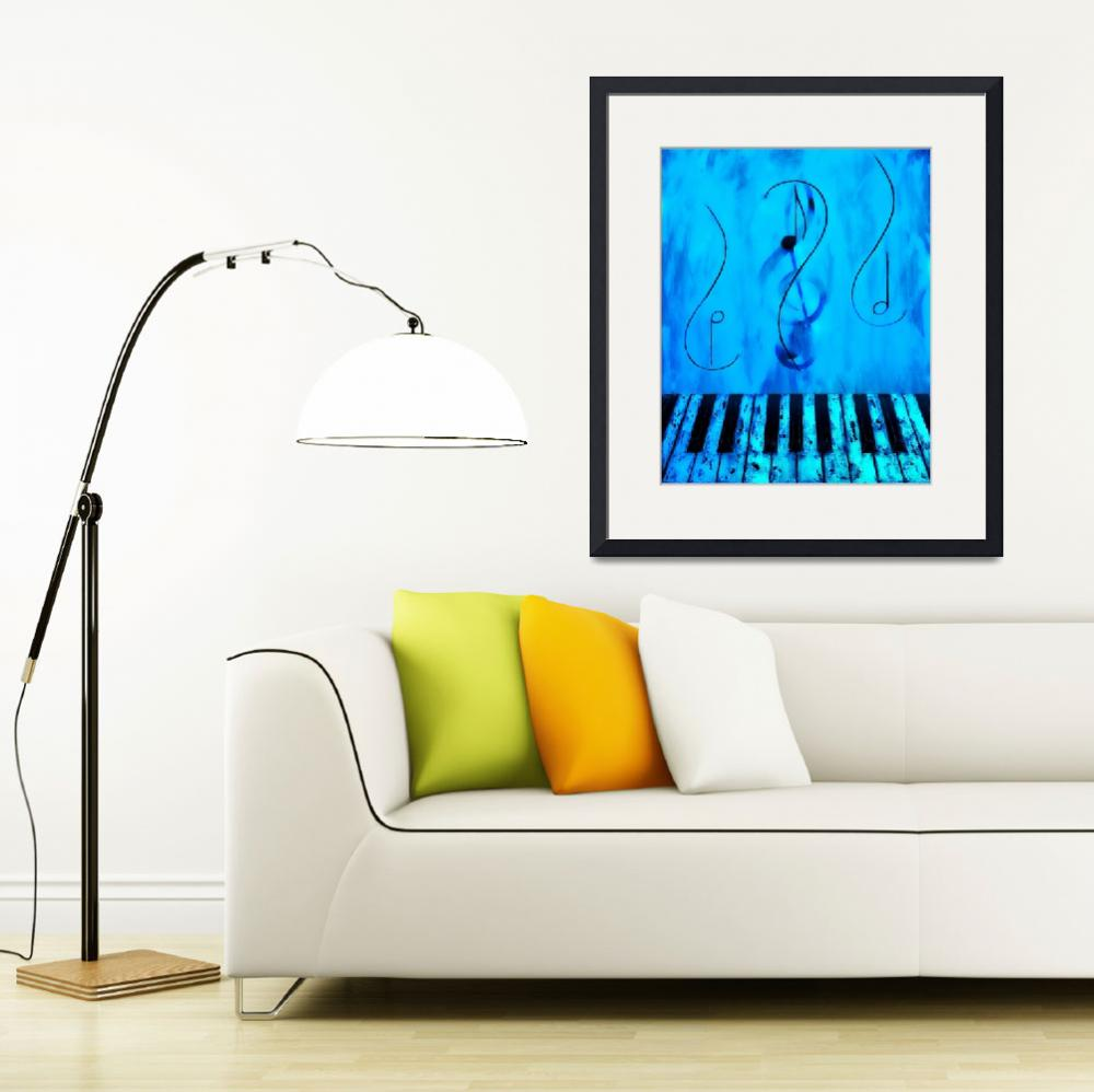 """""""Piano Play Blue&quot  by waynecantrell"""